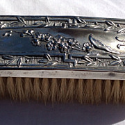 Vintage Silver Plate Clothes Brush