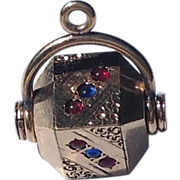Victorian Gold Filled Spinner Watch Fob Charm