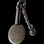 Vintage Sterling Silver Tennis Racket & Ball Charm