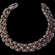Vintage Italian Sterling Silver Flexible Link Bracelet