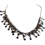 REDUCED Vintage Norwegian Solje Sterling Silver Filigree  Festoon Wedding Necklace