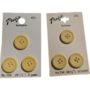 Two Sets Of Pacific Buttons Made In Japan