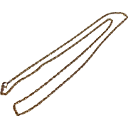 "REDUCED Vintage 22"" 14 K Yellow Gold Chain"