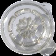 Vintage Glass Juicer Reamer