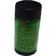 Old Green Pharmaceutical Codeine  Sulfer Bottle