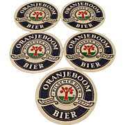 Vintage Advertising German Oranjeboom Bier Coaster Mats