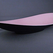 Bell Pottery of California Black and Pink console Flower Bowl