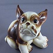 Vintage Ceramic French Bull Dog Figurine, Wales Co. Japan