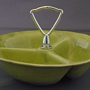 Vintage 1960's Lane & Co. Green 3000 Candy or Nut Dish