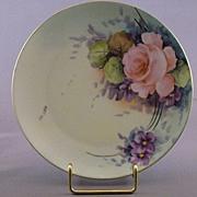 Handpainted Fritz Thomas Bavaria China Plate