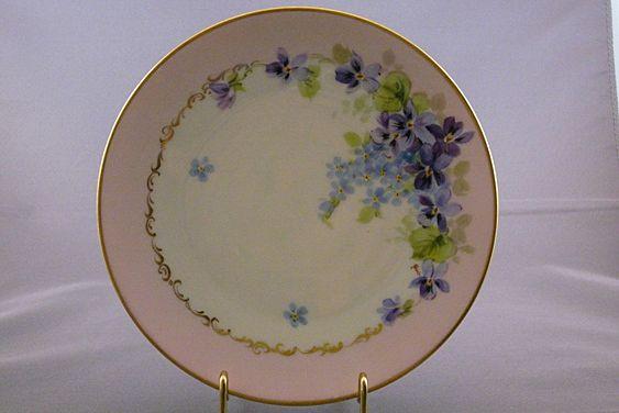 Vintage H & Co. Bavaria Handpainted China Plate