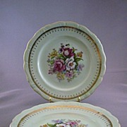 Pair Of Vintage Ceramic French Bouquet Plates