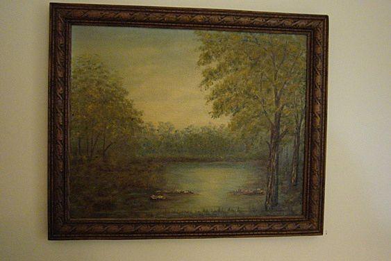 Vintage Landscape Oil Painting By Marjorie Henneberg