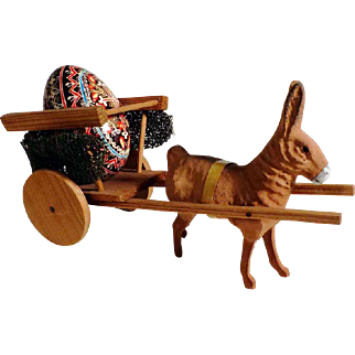 Rabbit with Chariot Easter & Painted Easter Egg