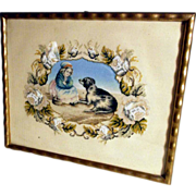 Best Friends - Lovely Picture Embroidery ca. 1920