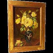 Yellow Roses Still Life Art Deco Period