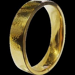 SALE Beautiful Vintage Hammered Gold Filled Bangle Bracelet