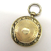 Victorian Rolled Gold Ornate Photo Locket Memorial