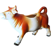 Vintage Porcelain Cow Cream Pitcher from Germany