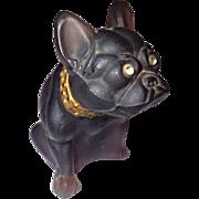 Vintage Signed Westmoreland Glass Bull Dog Figurine