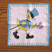 Vintage Children's Tuxedo Duck Handkerchief
