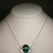 Sterling Silver Aqua Quartz Necklace