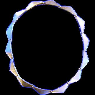 Hans Hansen Sterling Silver Modernist Necklace Design # 315