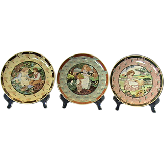 """3 """"Once Upon A Rhyme"""" Heinrich/Villeroy & Boch Collector Plates"""