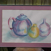 CLAY POTS ~ Original Signed Watercolor