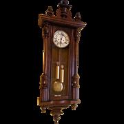 2 weight Vienna Regulator style wall clock