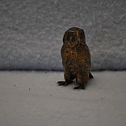 Austrian Bronze Owl: miniature
