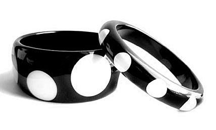 Black and White Polka Dot Bracelets