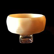 Satin Peach Plastic Bracelet