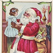 Santa Claus With Doll & Large Sack Of Toys series 227