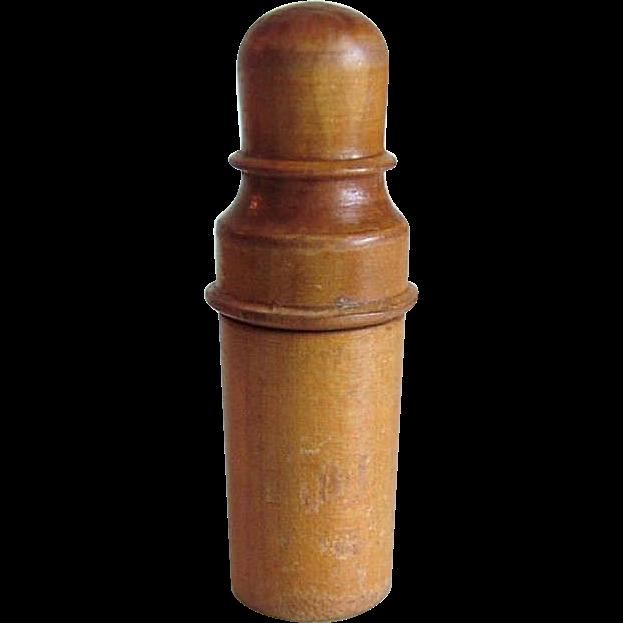 Treen Ware Needle Holder Victorian