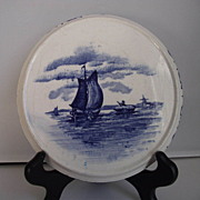 "German ""Delft"" Tea Tile with Windmill"