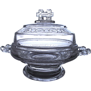 EAPG Covered Butter Dish Two Band Pattern