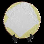 Majolica Napkin on Basket Pattern Plate  Circa 1877 English