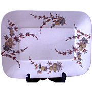 Aesthetic Movement Ridgeway Pineapple Pattern Large Platter