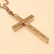 12kt. Gold fill Cross with Original Chain