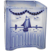 Small Delft Vase with Windmill and Sailboat