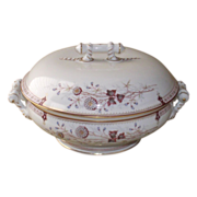 English Covered Dish  Clobbered Transfer Ware