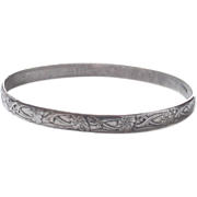 Sterling Bangle  Mexican  Wonderful Pattern