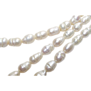 "Baroque Freshwater Potato Pearl Necklace 18"" Long"