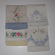 4 Piece Embroidered Guest Towels