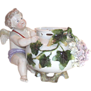 19th Cent. German Porcelain Cherub Rose Bowl