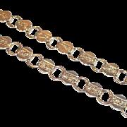 Pair Sarah Coventry Coin Style Charm Bracelets