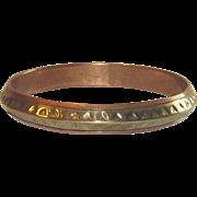 Vintage Copper and Brass Bangle Bracelet