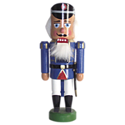 Erzgebrige East German Soldier Nutcracker with Original Box Nut Cracker