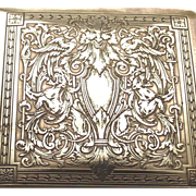 Hand Chased Brass Cigarette Box Circa 1880s Satyr's -Griffons - Cranes